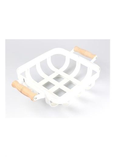 İkram Dünyası İkram Dünyası Galvaniz Sepet Beyaz Renkli